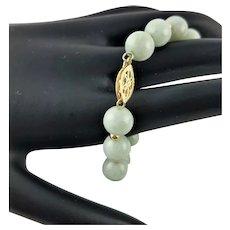 Outstanding Jade/Jadeite & Gold Bracelet