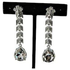 Beautiful KJL Bridal Diamond Like Earrings