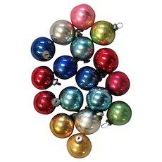 Seventeen Mercury Colored Glass Decorations