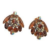 Beautiful Juliana Amber Colored Earrings