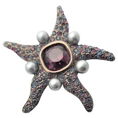Famous Older KJL Starfish Brooch
