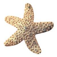 Starfish Shape & Texture KJL Brooch