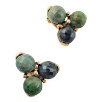 Pretty Kramer Clip Turquoise Green Earrings