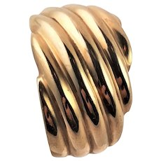 Marked Gold Dome 14K Ring