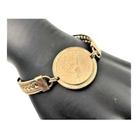 Gold Plated Reublicade Chile Coin Bracelet