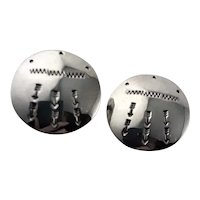 Sterling Native American Clip Earrings