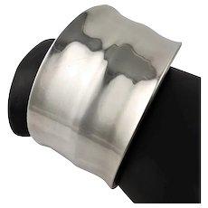 Marked Sterling Silver Cuff Bracelet