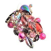 Magnificent Weiss Multi Colors of Red Brooch