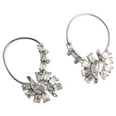 Rare Ear Wrap Juliana Silver Plate Earrings