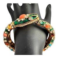 Glitzy KJL Bejeweled Snake Bracelet
