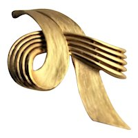 Vintage Gold Plated Trifari Brooch