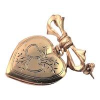 Vintage Gold Plated Heart Shaped Locket
