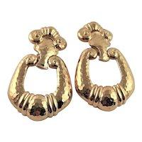 Vintage Barrera Gold Plate Earrings for Avon