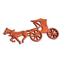 Wonderful Older Horse & Carriage Plastic Brooch