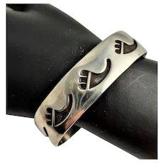 Ntive American Bear Paw Sterling Bracelet