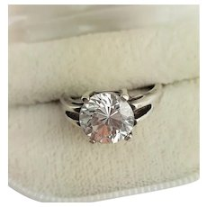 Sparkling Solitaire CZ Engagement Ring