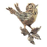 Darling BSK Dimensional Bird Brooch
