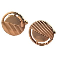 Vintage Gold Plated Swank Cuff Links