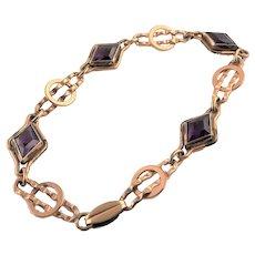 Lovely Vermeil/ Gold Plated Sterling Bracelet