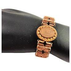 Gold Expansion Bracelet Marked 1904-1905