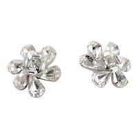 Diamond Like Clip Earrings