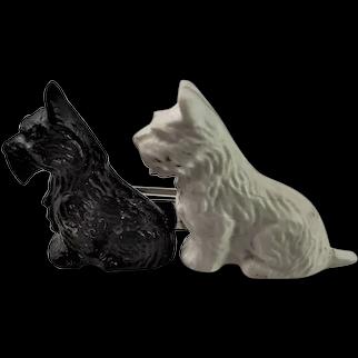 Little Scottie Dog Marked Brooch