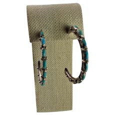 Sterling & Turquoise Native American Earrings
