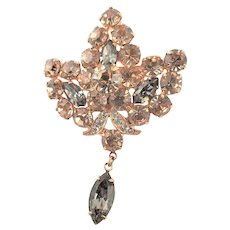 Spectacular Eisenberg Ice Marked Brooch