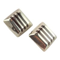 Handmade Sterling & Carnelian Inlay Earrings