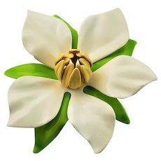 Sarah Coventry Large  Enamel Flower Brooch