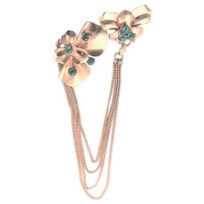 Barclay Gold Filled Double Chain Brooch