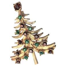 Marked Mylu Christmas Tree Brooch
