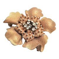 Unique HAR Gold Flower Brooch