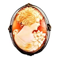 Amazing Shell Cameo Gold Filled Mounting