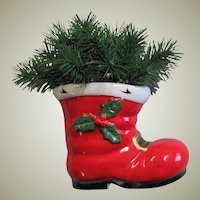 Vintage Porcelain Red Christmas Boot
