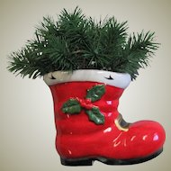 Vintage Porcelain Red Christmas Boot