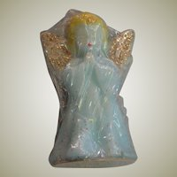 Two Light Blue Angel Christmas Candles