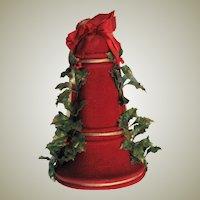 Vintage Red Felt Musical Bell Wall Hanger