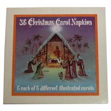 Vintage Caroler Christmas Napkins