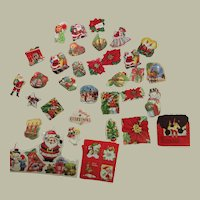 Vintage Christmas Stickers And Tags