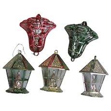 Vintage Hard Plastic Bells & Lanterns