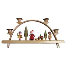 Vintage Made In Germany Wooden Christmas Holder