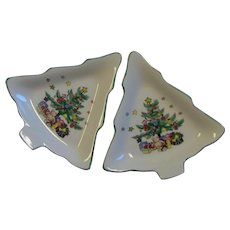 Spode Christmas Tree Shaped Dishes
