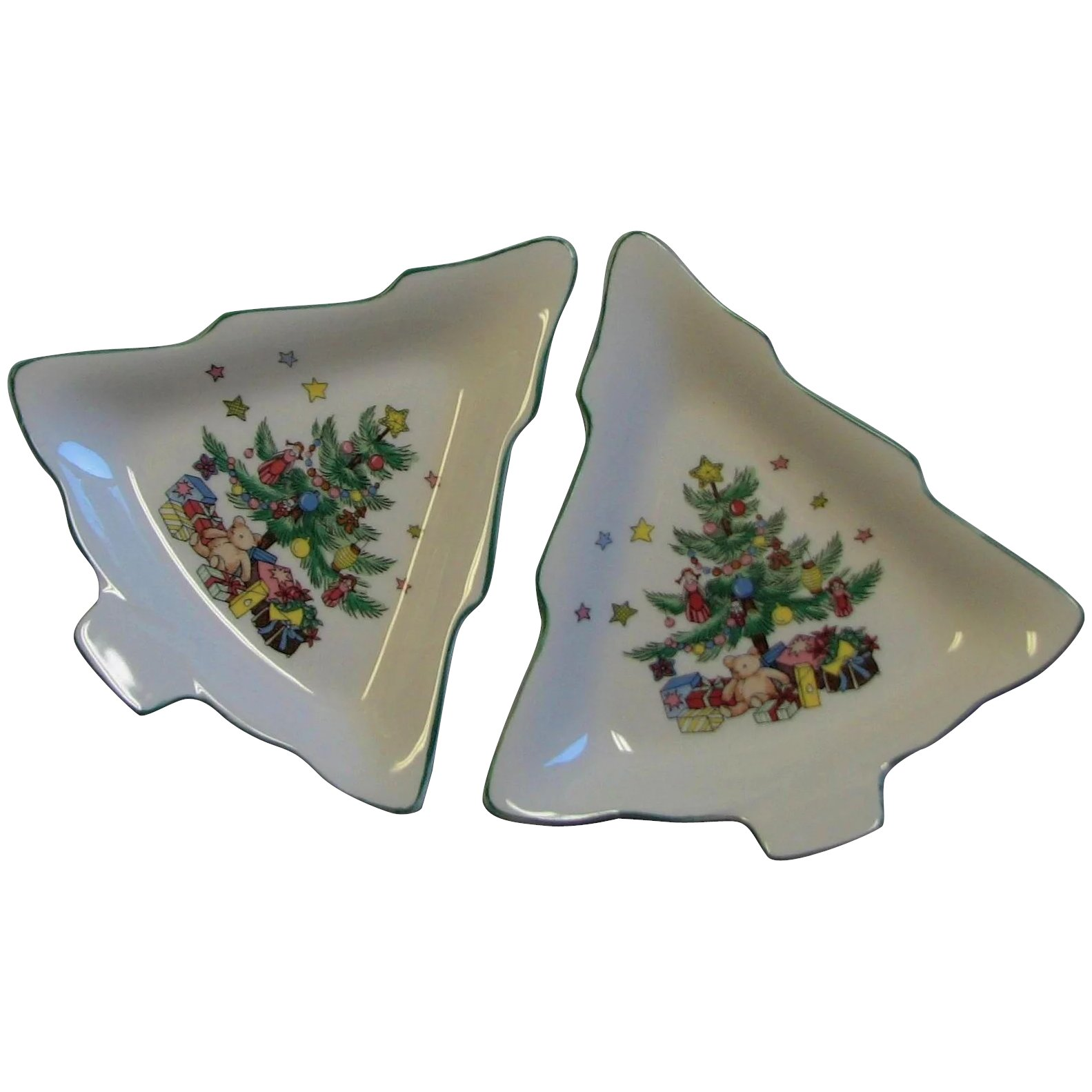 Spode Christmas Tree.Spode Christmas Tree Shaped Dishes