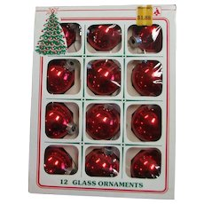 Vintage Red Glass Christmas Ornaments