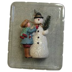 Older Hallmark Snowman Ornament