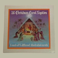 Box Never Used Vintage Christmas Carroll Napkins