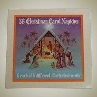 Box Never Used Vintage Christmas Carroll Napkins