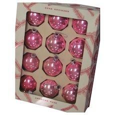Vintage Coby Glass Pink Ornaments