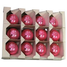 Shiny Brite Pink Glass Ornaments